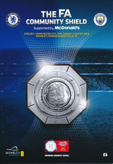 2018 FA Community Shield Chelsea v Manchester City - official match programme